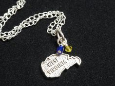 West Virginia Mountaineers Sterling Silver by DaisygatorDesigns, $25.00
