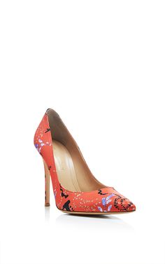 Lisa Foliage Printed Pumps by Mary Katrantzou Now Available on Moda Operandi