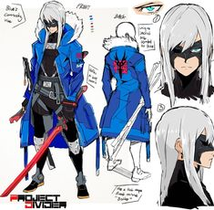 A new work in progress character concept sheet idea of Carlyle! I tried to incorporate some different techwear inspired designs while… Character Sheet, Character Drawing, Character Concept, Concept Art, Cyberpunk Character, Cyberpunk Art, Fantasy Character Design, Character Design Inspiration, Manga Drawing
