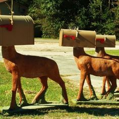 Check Out These DIY Unconventional Mailboxes love the gun mailbox