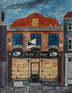 Faith is Torment | Art and Design Blog: Illustrations by Emily Sutton House Illustration, High Art, Visual Diary, Naive Art, Illustrations And Posters, Design Illustrations, Shoe Shop, Shop Fronts, Urban Stories