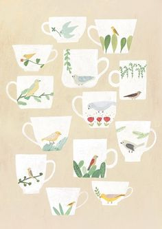 Little bird drawing beautiful 50 Super Ideas Illustration Blume, Simple Illustration, Watercolor Illustration, Watercolor Art, Affinity Designer, Tea Art, Bird Drawings, Little Birds, Prints