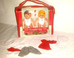 Vintage Campbell Kids Dolls,Fashion your own outfits, 5 inch Tall, Campbell Soup Dolls,No 3093, Campbells Soup Kids, Plus Wardrobe by JunkYardBlonde on Etsy