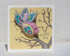 Bird on a branch greeting card and by RefreshinglyPictured on Etsy, $12.49