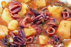 Calamares guisados fáciles. Receta casera y Vídeo | Recetas de Cocina Casera - Recetas fáciles y sencillas