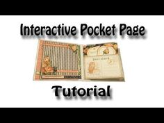 Interactive Pocket Page Tutorial used for my Eerie Tale & Romance Novel Mini Albums - YouTube