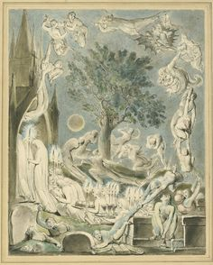 William Blake, The Gambols of Ghosts According with their Affections Previous to the Final Judgement