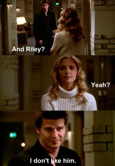 Angel and Buffy. Did anyone like Riley though?