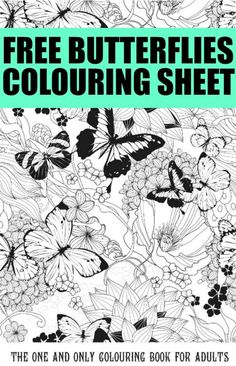 Free Butterfly Colouring Pages for Adults Free Butterflies Coloring Page - cute printable that's perfect for adult coloringFree Butterflies Coloring Page - cute printable that's perfect for adult coloring Coloring Pages For Grown Ups, Printable Adult Coloring Pages, Coloring Book Pages, Coloring Sheets, Zentangle, Butterfly Coloring Page, Colouring Pics, Adult Crafts, Copics