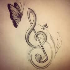 Resultado de imagen para notas musicales dibujo a lapiz