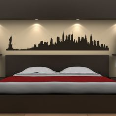 New York City Skyline Wall Stickers America USA Places Wall Art Decal Transfers