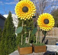 Ständigen Papier Sonnenblumen  Papierblumen mit Stiel