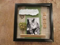Custom Commemorative Cat Shadow Box by ShadowsofLove on Etsy, $35.00