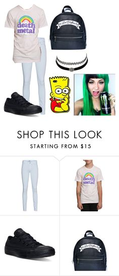 """""""uytrdfghjk"""" by annie-hall-barton ❤ liked on Polyvore featuring 7 For All Mankind, Converse and Charlotte Russe"""