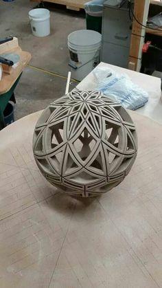 David Andersen's amazing incised ceramic sphere 2015