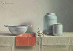 Symphonie in wit Henk Helmantel 88.0 x 122.0 cm - Oil on panel - 2002