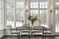 full windows and french doors