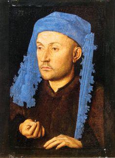 A Man, ca. 1430s? by Jan van Eyck, 1387-1441   Brukenthal Museum, Sibiu Romania