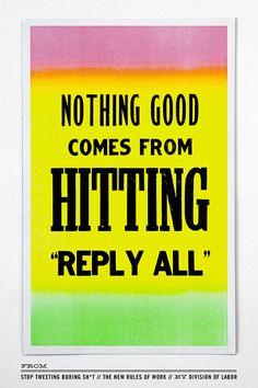 """Oh, """"Reply All"""""""