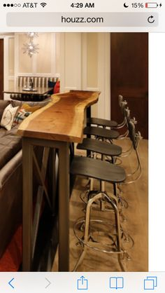 Counter table. Perfect for tight spaces. Thinking of putting this on our small kitchen.