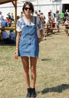 Denim overalls have made their way back in the music festival industry. Different renditions of this have been made for comfort purposes.