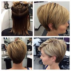 Let's be candid. Serious hair envy right now! Short Grey Hair, Short Hair With Layers, Short Hair Cuts For Women, Mom Hairstyles, Short Bob Hairstyles, Headband Hairstyles, Haircuts, Medium Hair Styles, Short Hair Styles