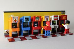 Lego Arcade machines : lego Reading-Comprehension Skills - Part I If you can read every word on a pa Hama Beads Minecraft, Lego Minecraft, Lego Moc, Perler Beads, Lego Display, Lego Modular, Lego Design, Lego Batman, Lego Technic