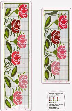 Punto croce - Schemi Gratis e Tutorial: Raccolta di bordi a tema rose