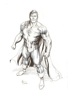Hyperion convention sketch by Gary Frank. Comic Art