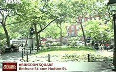 Pedro Andrade mostra o parque Abingdon Square