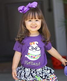 Look at this Juxby Purple Ghost Personalized Tee - Infant, Toddler & Girls on #zulily today!