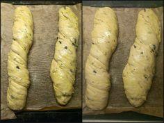 Řecké menu: Olivový chléb s mátou, souvlaki, tzatziki a okurková limonáda s tymiánem - Zrzka v kuchyni Tzatziki, Ciabatta, Sausage, Potatoes, Bread, Vegetables, Cooking, Image, Food