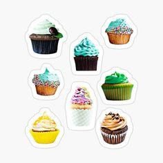 Cute, yummi, kawaii cupcakes, they make everything brighter, sweeter and more sugery. This design is also available on many other items Cupcake Party, Canvas Prints, Art Prints, Cotton Tote Bags, Magnets, Cupcakes, Kawaii, Stickers, Design