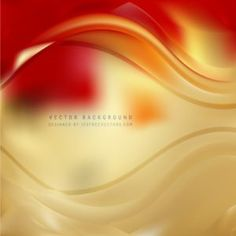 Red Gold Wave Background #freevectors