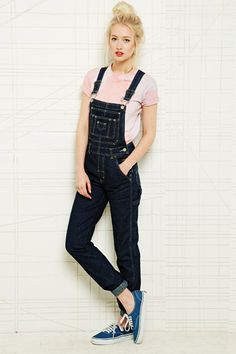 Vintage Renewal Tapered Denim Dungarees at Urban Outfitters