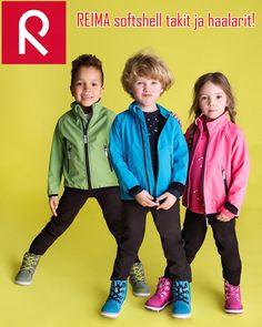 Reima is a globally leading brand in functional, outdoor kids clothing. We provide year-round quality from winter to summer gear. Rain Jacket, Bomber Jacket, Softshell, Summer 2016, Activities For Kids, Kids Outfits, Windbreaker, Bring It On, Children