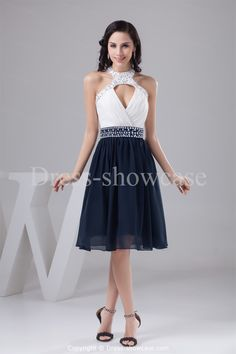 Beading Sweet 16 Knee-Length Satin A-Line Dress -Special Occasion Dresses US$149.99