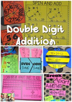 Double Digit Addition without regrouping, using strategies based on place value and mental math to add