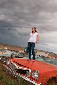 Senior Pictures at a Junkyard