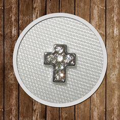 1 Cross Floating Charm memory locket  7.7mmx6.5mm by GCFindings