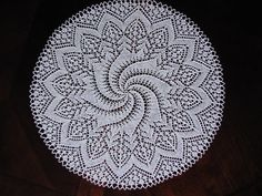 19 hand made knitted lace doily/ table by BloomingNeedles on Etsy, $39.00