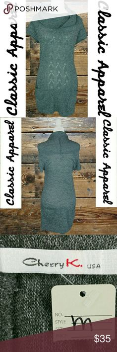 NWT! COWL NECK SHORT SLEEVE SWEATER DRESS NWT! CHERRY K - COWL NECK SHORT SLEEVE SWEATER DRESS.   (EVERY ITEM IS DRY CLEANED! EVERY ITEM IS WRAPPED!)  OFFERS ALWAYS WELCOME! :) Cherry k. Sweaters Cowl & Turtlenecks