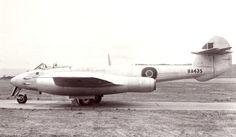 RA435 Meteor F4 Derwent 5 reheat trials Hucknall 1949
