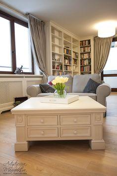 stolik kawowy w stylu prowansalskim, klasyczne wnętrza, coffee table, handmade furniture, home decor, classic furniture - wykonanie Artystyczna Manufaktura