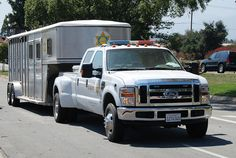 LOS ANGELES COUNTY SHERIFF DEPARTMENT (LASD) - FORD DUALLY PICKUP TRUCK with HORSE TRAILER
