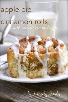 Apple Pie Cinnamon Rolls - Vegan