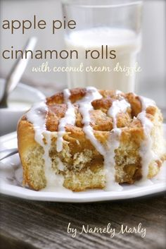 Apple Pie Cinnamon Rolls by @Marly Seeley | Namely Marly #vegan #breakfast