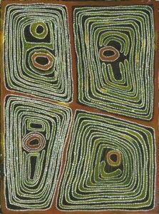 Jimmy Nerrimah, Kapipata, Iylyi, Walpajarra and Munkuwartu, 2008, acrylic on canvas, 120x90cm