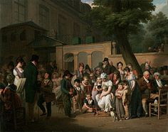 Entrance to the Jardin Turc, Louis-Léopold Boilly, 1812