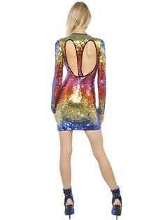 EMILIO PUCCI - SEQUINED TULLE DRESS -